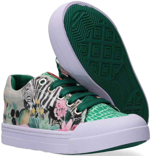 Groene GO BANANAS Lage sneakers GB_ZEBRA-L  - large