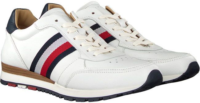 Witte TOMMY HILFIGER Sneakers LUXURY CORPORATE LEATHER RUNNER - large