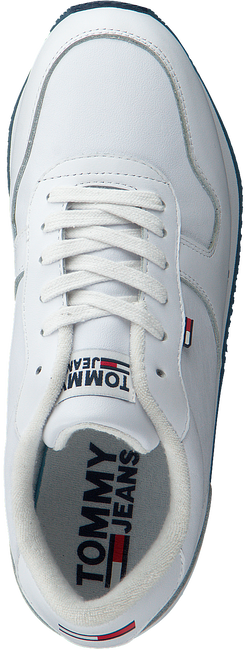 Witte TOMMY HILFIGER Lage sneakers FLATFORM RUNNER  - large