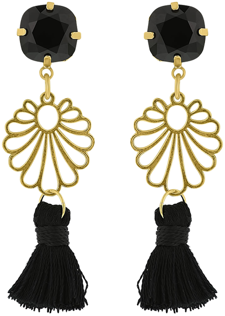 Zwarte JEWELLERY BY SOPHIE Oorbellen IBIZA EARRINGS - large