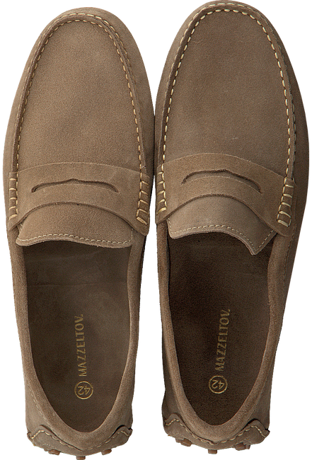 Taupe MAZZELTOV. Loafers 32008  - large