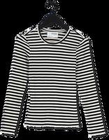 Witte SELECTED FEMME T-shirt ANNA LS CREW NECK TEE STRIPE