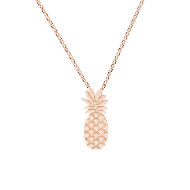 Gouden ATLITW STUDIO Ketting ELEMENTS NECKLACE TALL PINEAPPLE - large