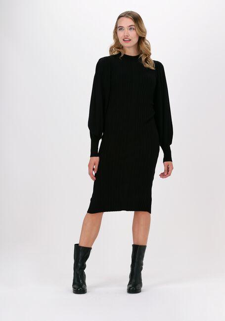 Zwarte MSCH COPENHAGEN Midi jurk RACHELLE LS DRESS - large