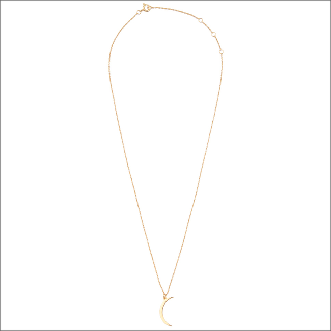 Gouden ATLITW STUDIO Ketting SOUVENIR NECKLACE LONG MOON - large