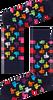 Donkerblauwe HAPPY SOCKS Sokken THUMBS UP SOCK  - small