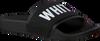 Zwarte THE WHITE BRAND Slippers ELASTIC MINIMAL KIDS - small