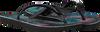 Zwarte HAVAIANAS Slippers KIDS SLIM TROPICAL FLORA  - small