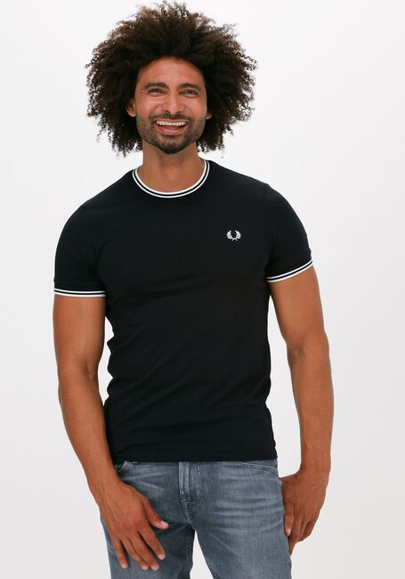 Zwarte FRED PERRY T-shirt TWIN TIPPED T-SHIRT  - large