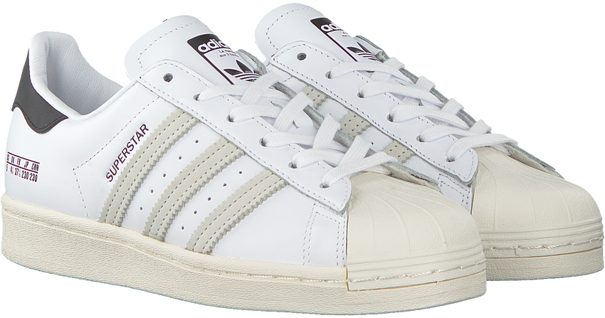 Witte ADIDAS Lage sneakers SUPERSTAR  - larger