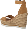 Cognac TOMMY HILFIGER Sandalen NATURAL WEDGE  - small