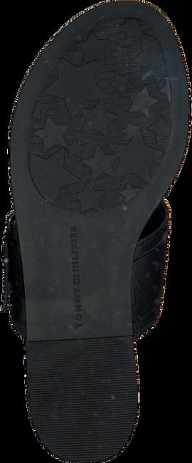 Zwarte TOMMY HILFIGER Slippers FLAT SANDAL OVERSIZED BUCKLE  - large