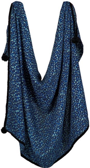 Blauwe LE BIG Sjaal PETRA SCARF  - large