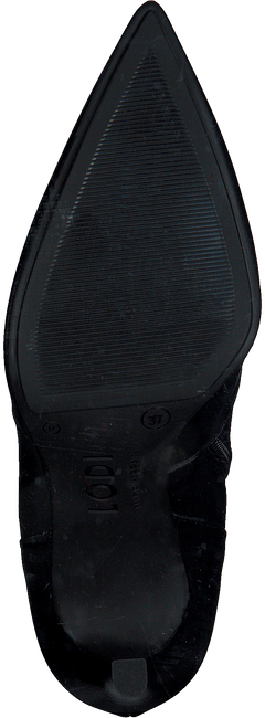 Zwarte LODI Enkellaarsjes ROTAN-TP  - large