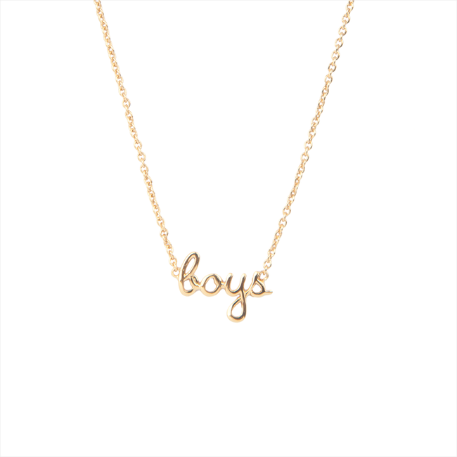 Gouden ALLTHELUCKINTHEWORLD Ketting URBAN NECKLACE BOYS - large