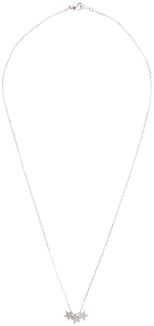 Zilveren ALLTHELUCKINTHEWORLD Ketting FORTUNE NECKLACE THREE STARS - large