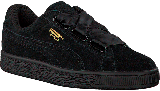 Zwarte PUMA Sneakers SUEDE HEART SATIN II  - large