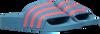 Blauwe ADIDAS Badslippers ADILETTE KIDS  - small
