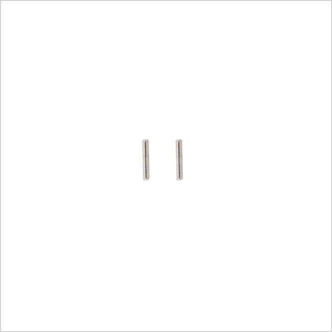 Zilveren ATLITW STUDIO Oorbellen PETITE EARRINGS STRIP - large