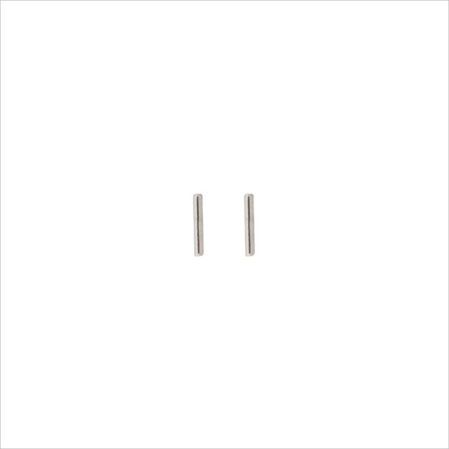 Zilveren ALLTHELUCKINTHEWORLD Oorbellen PETITE EARRINGS MINI STRIP - large