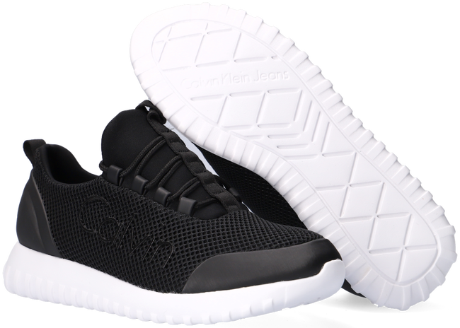 Zwarte CALVIN KLEIN Lage sneakers RUNNER SNEAKER LACEUP MESH  - large