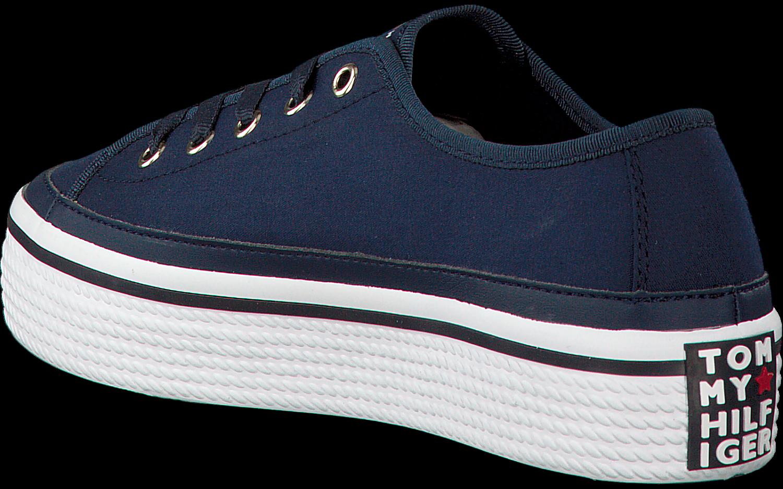 3183d678301248 Blauwe TOMMY HILFIGER Sneakers CORPORATE FLATFORM SNEAKER - large. Next
