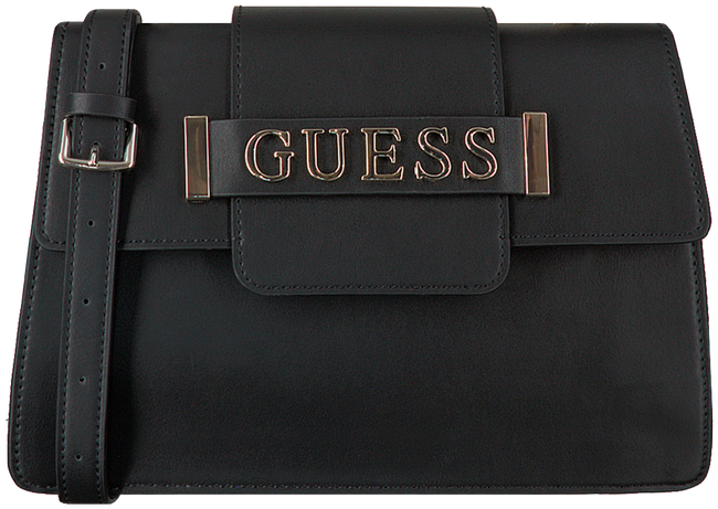 Zwarte GUESS Schoudertas KERRIGAN TOP HANDLE FLAP  - large