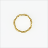 Gouden NOTRE-V Ring RING SCHAKEL ONE SIZE  - small