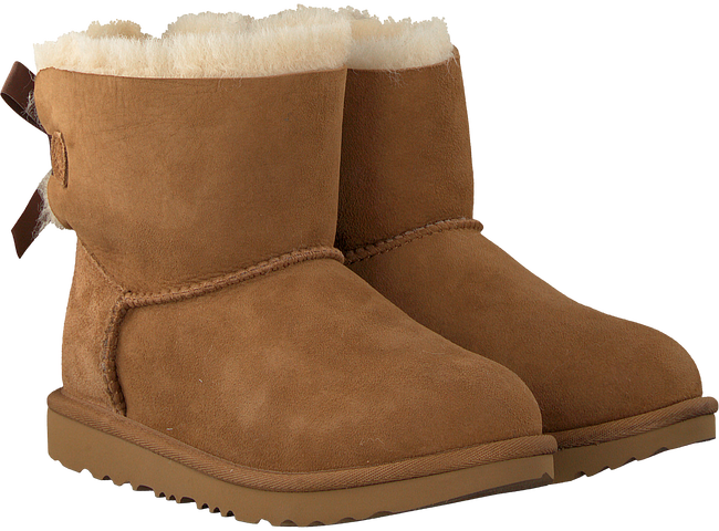 Cognac UGG Enkelboots MINI BAILEY BOW II KIDS - large