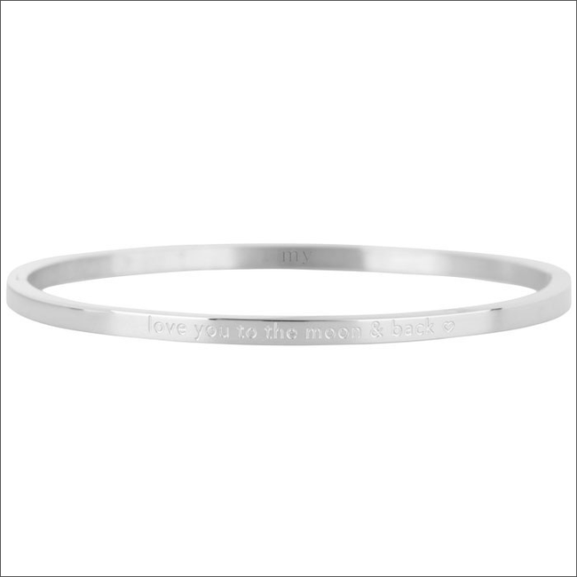 Zilveren MY JEWELLERY Armband LOVE YOU TO THE MOON AND - large