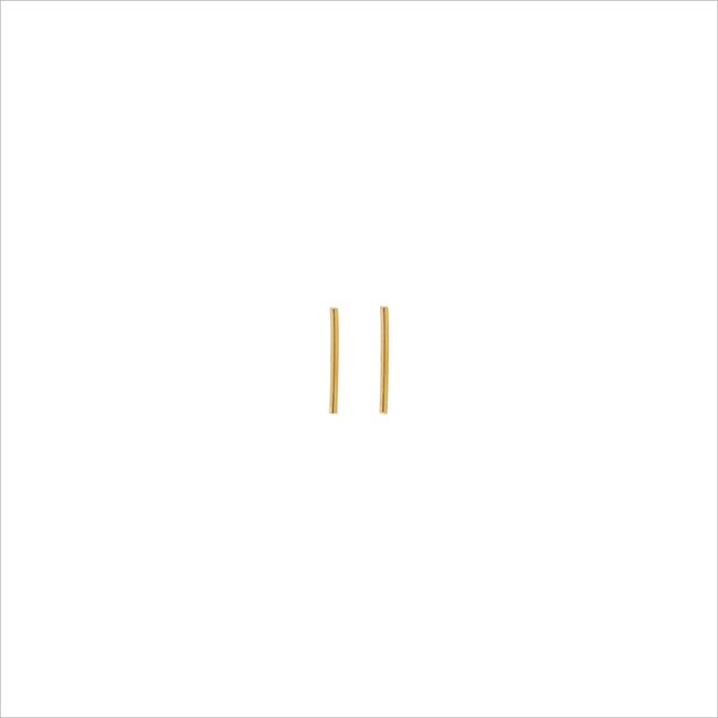 Gouden ATLITW STUDIO Oorbellen PETITE EARRINGS STRIP - large