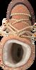 Cognac INUIKII Enkelboots CURLY  - small