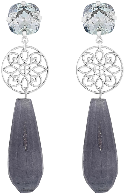 Grijze JEWELLERY BY SOPHIE Oorbellen PRINCESS EARRINGS - large