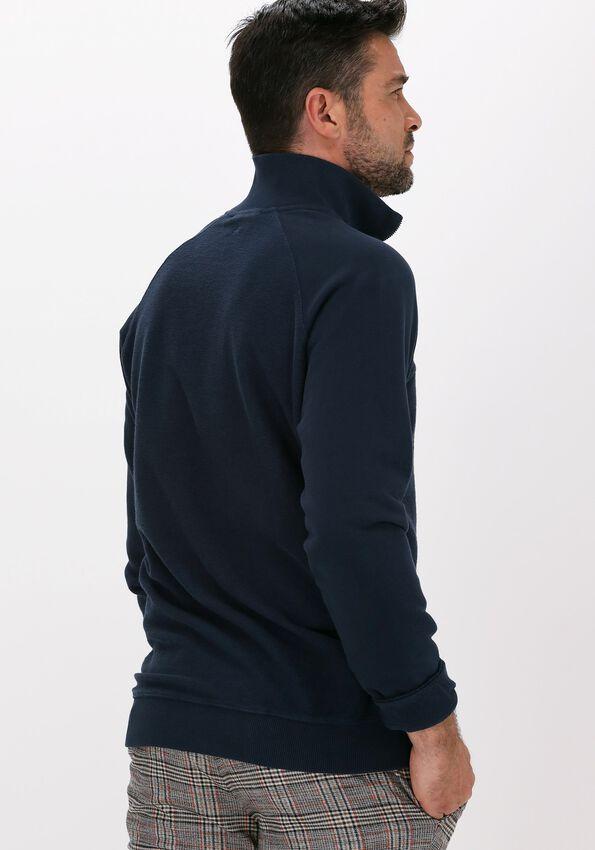 Donkerblauwe FORÉT Sweater CREEK HALF ZIP - larger