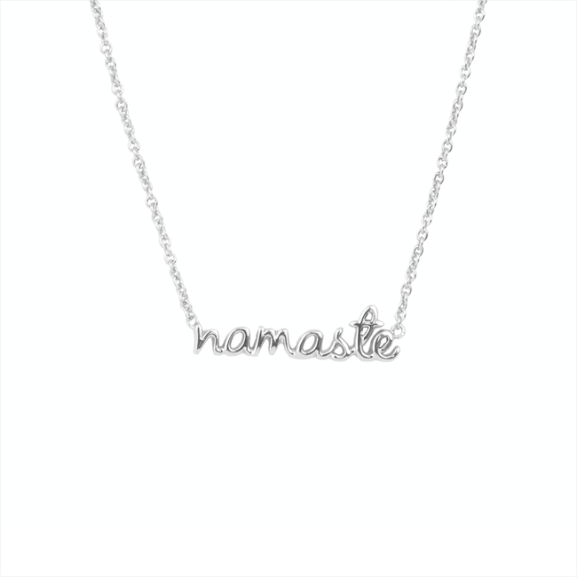 Zilveren ALLTHELUCKINTHEWORLD Ketting URBAN NECKLACE NAMASTE - large