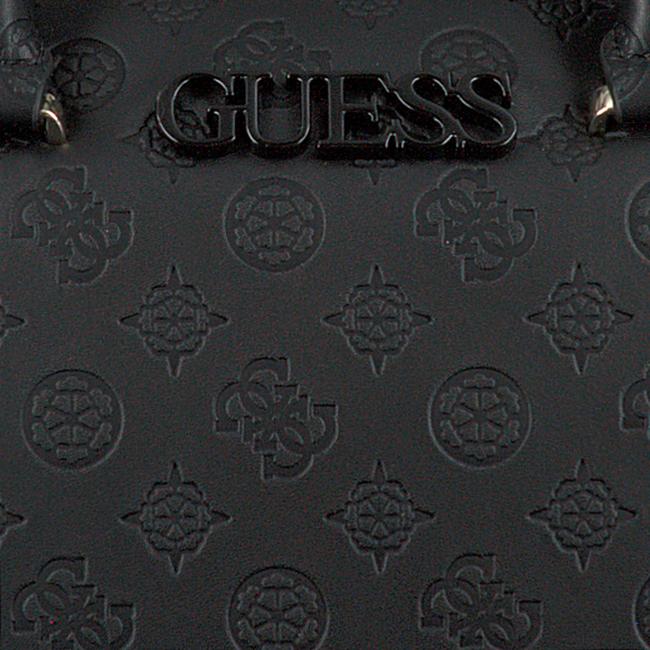 Zwarte GUESS Handtas JANELLE BOX SATCHEL  - large
