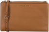 Cognac MICHAEL KORS Schoudertas DBL ZIP CROSSBODY - small