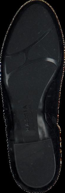Zwarte HASSIA Enkellaarsjes 0989  - large