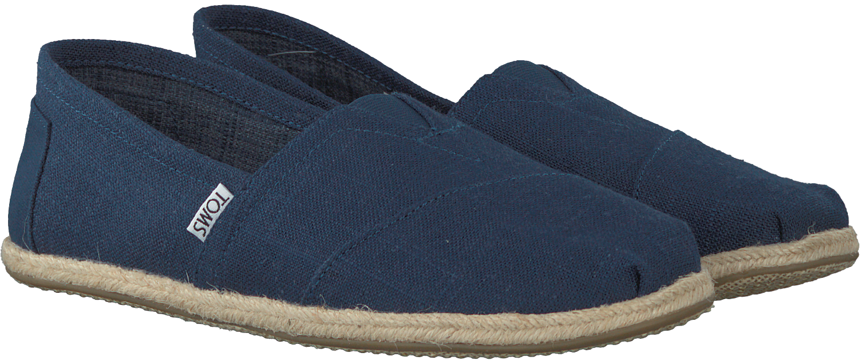 Blauwe TOMS Espadrilles CLASSIC ROPE SOLE