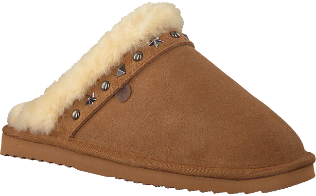 Cognac WARMBAT Pantoffels FLURRY WOMEN STUDS - large