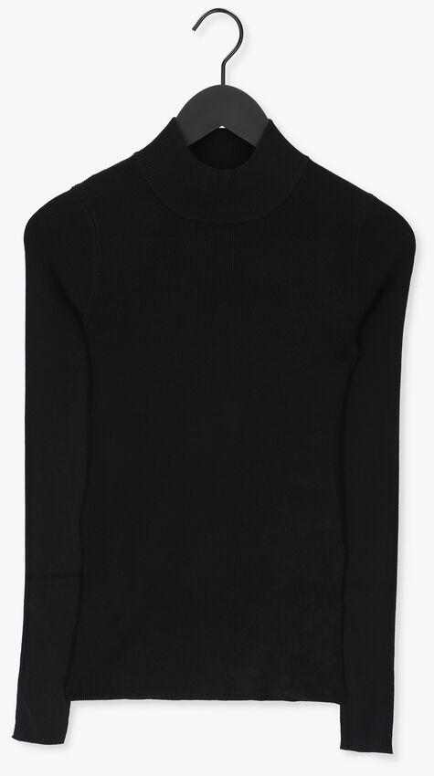 Zwarte NA-KD Coltrui RIBBED POLO KNITTED SWEATER  - larger