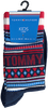 Rode TOMMY HILFIGER Sokken TH KIDS SOCK 2P MULTI COLOR  - small