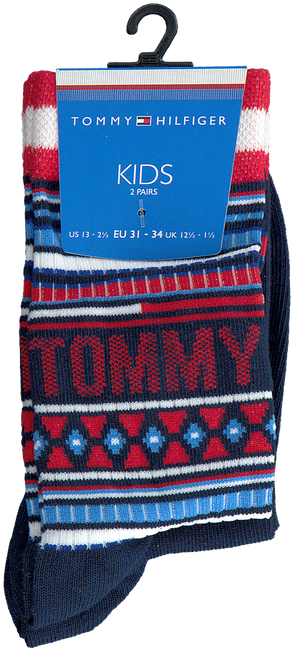 Rode TOMMY HILFIGER Sokken TH KIDS SOCK 2P MULTI COLOR  - large
