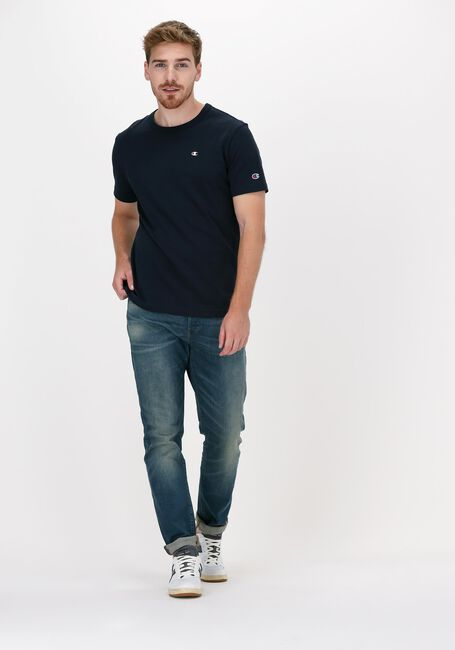 Donkerblauwe CHAMPION T-shirt SMALL C LOGO T-SHIRT - large