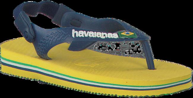 Gele HAVAIANAS Slippers BABY BRASIL LOGO  - large
