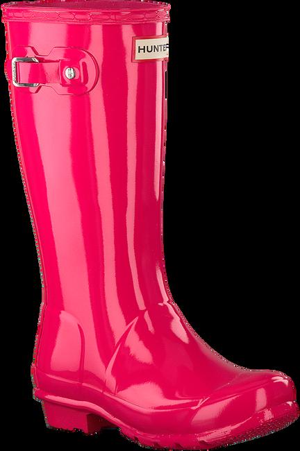 Roze HUNTER Regenlaarzen ORIGINAL KIDS GLOSS - large