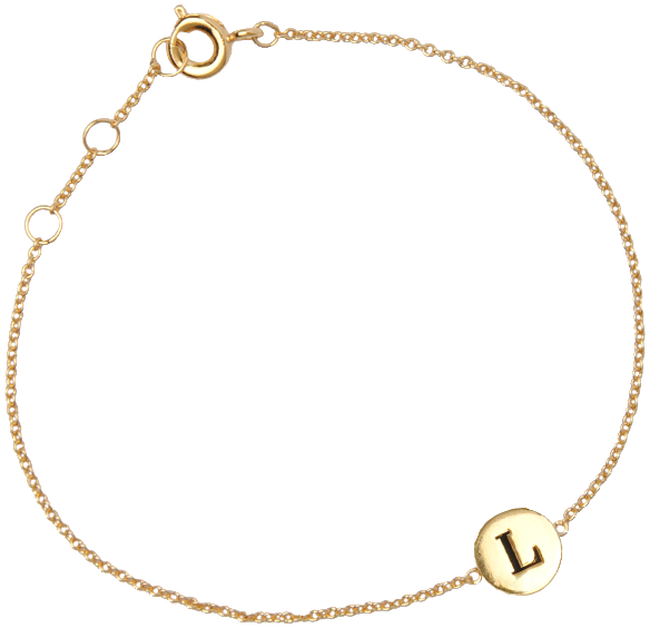 ALLTHELUCKINTHEWORLD ARMBAND CHARACTER BRACELET LETTER GOLD - large