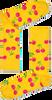 Gele HAPPY SOCKS Sokken CHERRY - small