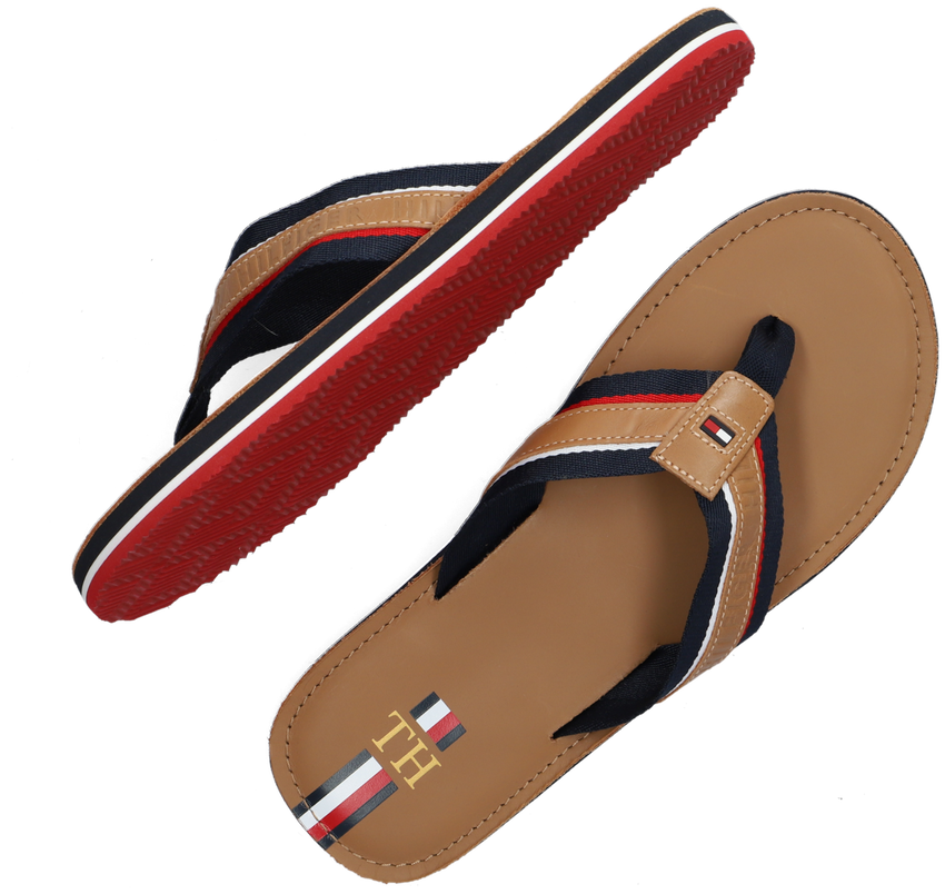 Camel TOMMY HILFIGER Teenslippers ELEVATED BEACH FLIPFLOP - larger