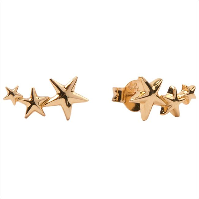 Gouden ATLITW STUDIO Oorbellen PARADE EARRINGS THREE STARS BI  - large